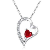 N41003 Yeni Antik gümüş Gümüş Kaplama Crescent Moon Kalp Charm Ay Ve Geri Kolye Seni Seviyorum