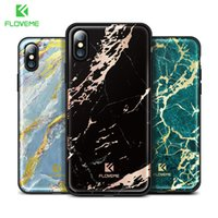 FLOVEME Colorful Marble Case para iPhone X 8 7 Luxury Soft Silicon Fundas para teléfonos móviles Apple iPhone 7 8 Plus 10 Cover Capinhas