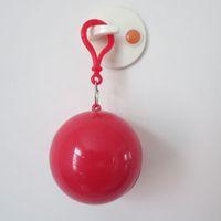 جديد كروية المعطف البلاستيك الكرة مفتاح سلسلة المتاح المحمولة معاطف المطر السفر رحلة رحلة معطف المطر 60 قطع dhl شحن