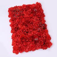 Matrimonio fiore artificiale muro falso fase sfondo rosa blub tappeto di stoffa simulazione fiori partito di seta nuove decorazioni romantico 35qd ZZ