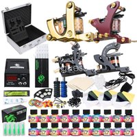 Complete Tattoo Kits 4 Guns Machine 20 Color Ink Sets LCD Po...