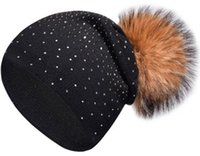 New hot women' s point drill knit hat autumn and winter ...