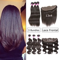 3 Bundles With Frontal Brazilian Virgin Hair Weave Body Wave...