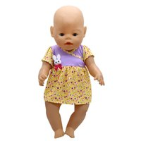 Doll Accessories Baby Born Doll Clothes 6 Colors Cute Princess Skirt Dress Fit 43cm Zapf Baby Born Doll Birthday Gift X-113