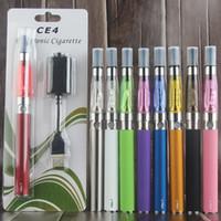 Wiederaufladbare eGo-T CE4 Einzel-Starter-Blisterpackung Clearomizer Pen 650/900 / 1100mAh Vape-Batterie USB-Ladegerät CE4 Verdampfer-Zerstäuber