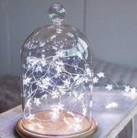 Luces de la secuencia del alambre de cobre de la estrella del LED Luces de la decoración de la boda de la Navidad del hada del LED Luces de la batería del funcionamiento Operan luces del centelleo