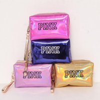 Fashion Brand Cosmetic Bags 2018 New Makeup Case pink rectan...