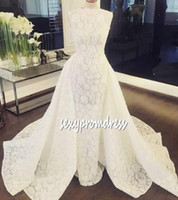 White Full Lace Wedding Dresses 2018- 2019 Spring Summer A Li...