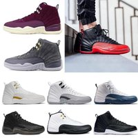 Basketball shoes 12 12s Bordeaux Dark Grey wool white Flu Ga...