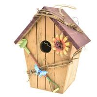بيت الطيور الخشب ، الفنون والحرف الرجعية البلد البيوت الطيور البيت غابة المقصورة Birdhouse الديكور في الهواء الطلق والداخلية ديكور المنزل الخشبي