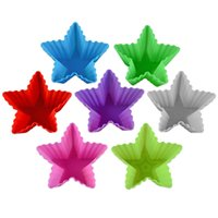 Muffin Cupcake Molds Star Shapes Pudding Food Grade Silicone...