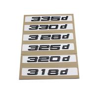 1 stücke neue Silber und Schwarz 318d 320d 323d 325d 330d 335d 338d auto Boot Trunk Emblem Schriftzug Abzeichen Logo Für BMW 3-serie F30 F31 F34 E90