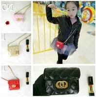 Kids Girls Handbags Gold Chains Princess Mini Coin Purse Can...