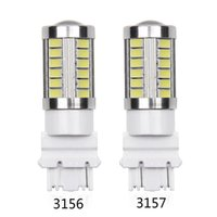 4pcs 3156 3157 LED High Power 33 SMD 5630 LED Gelb Gelb Blinker Weiß P27W T25 Autolampen Rot P27 / 7W Auto-Lichtquelle Lampe