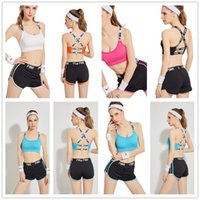 PINK Tracksuit Women Quick Dry Summer sports bra shorts suit...