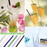 6PCS colorato a mano a base di lepre che protegge il bere cannuccia vetro Turismo Juice Drink Beverage Poliestere resistente al calore Set 20cm Accessori da cocktail