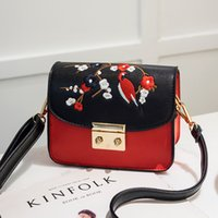 Fashion Embroidered Women Crossbody Bags High Quality PU Lea...