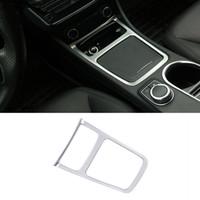 İç Merkezi Kontrol Kolçak Saklama Kutusu Çerçeve Dekorasyon Mercedes Benz GLA X156 CLA C117 Bir Sınıf Krom ABS