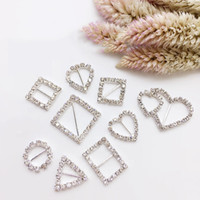 50pcs Heart+ Round+ Square Shape Ribbon Buckle Sliders for DIY...