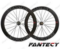 FANTECY الطريق قرص الفرامل عجلات الكربون 700C 60MM عمق 25MM عرض الدراجة الفاصلة / أنبوبي عجلات الطريق دراجة الكربون ، U- شكل حافة