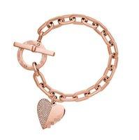 3 Farbe Kristall Herz Armbänder Silber Rose Gold Für immer Liebe Charm Armreif Manschetten Für Frauen Herz Armband Liebhaber Armband Modeschmuck