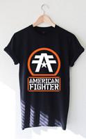2c2d9cd8f Satın Al Amerikan Fighter Mens Popüler Tagless Tee T Shirt, $14.67 ...