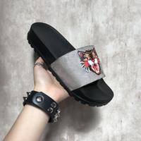 Terlik 2018 Yeni Gri Moda Sandalet Erkekler Kadınlar Terlik Kaplan Kedi Tasarım Yaz Huaraches terlik Flip İyi Kalite bulunduğu kutuyu