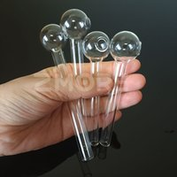 Pilha de tubos de vidro do queimador de óleo Prego Grande Pyrex Espesso Clear Burner Clear Tubo de Vidro Tubos de Água Pipes 4.0 / 4,7 polegadas