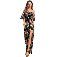 Women Long Dress Summer 2018 Casual Boho Floral Print Sexy V...