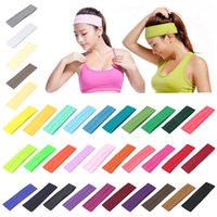 PLAIN HEADBAND Elastic Stretch Sports Yoga Hair Band Unisex ...