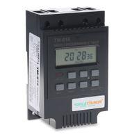 Freeshipping 220 فولت التحكم الطاقة الموقت AC الموقت التبديل التحكم الناتج التحكم: 30A 250V AC وقت التتابع أداة الإلكترونية
