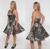 Cheap Camo Bridesmaid Dresses Short Summer Maid of Honor Gow...