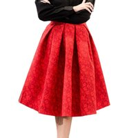 Autumn Retro High Waist Skirt Women Elegant Female Jacquard ...