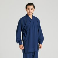 2f3bffa6852 New Arrival. 2018 New Men Solid Linen Shirt Pant Chinese Traditional Male  Shao Lin Wing Chun Tang Suit Loose Tai Chi Kung Fu ...