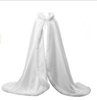 Beyaz Kadın Düğün Pelerin Gelin Ceket Pelerinler Wrap Şal Uzun Parti Sarar Uzun Pelerinler Düğün Aksesuarları Düğün Şal