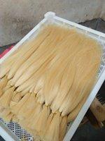 Elibess Marka% 100 Brezilyalı İnsan Saç Toplu Sarışın Renk 613 100gr merdanenin 300g Lot Örgü Toplu Düz Saç hiçbir Atkı 10-24inch, DHL