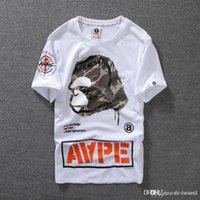 HotSummer Lovers Mens dibujos animados monos camisetas Moda cuello redondo manga corta clásico camo Impreso Supply Co Male Tops camisetas cartton casuales camisetas