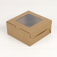 Cupcake box with window Gift Packaging For Wedding Home Part...