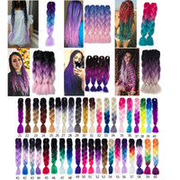 VERVES ombre braiding hair Kanekalon jumbo braids Fashion sy...