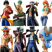 MegaHouse Ação Variável Heróis One Piece Luffy Ás Zoro Lei Sabo Nami Dracule Mihawk PVC Action Figure Collectible Modelo Toy
