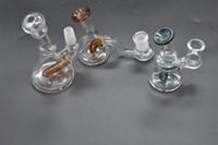 Mini vaso de vidrio Bong Heady Bongs mini Dab Rig Tubería de agua Plataformas petroleras gruesas cera fumar narguile 14 mm Tubos de tabaco del burbujeador de Bowl