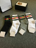 Wholesale 4pairs  Lot Tiger Embroidery Socks Fashion Brand B...