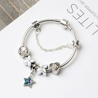 Charm Bracelets luxury jewelry Clover plated pan bracelets f...