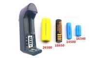 Ladegeräte Singal Slots Ladegeräte Universal-Ladegerät für 26500 18650 14500 16340 3,7 V 500ma 100 teile / los