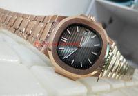 Роскошные высококачественные часы V2 Sport 40,5 мм Nautilus 5711 / 1R-001 18k розовые золотые механические прозрачные автоматические мужские часы часов