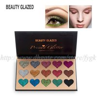 High Quality! shape heart Beauty Glazed 15 Colors Glitter Ey...