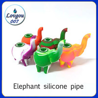 Wholesale Silicone Rig Elephant Silicone Smoking Pipe Hand P...