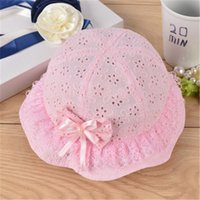 Cute Princess Summer Hollow Bow Baby Girls Sun Hats Summer I...
