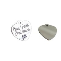 gioielli accessori moda il nostro primo Natale ornamento portachiavi Housewarming regalo Sposi novelli regalo per la catena chiave coppia