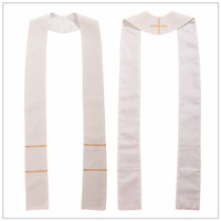1pc Formele Christian Crygy Stole Cross Borduurwerk Priester Massa Church Sjaal Voor Chasuble White / Red / Green / Violet